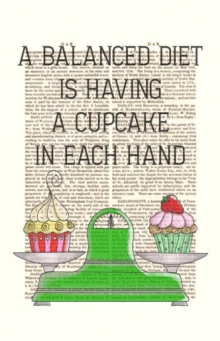 cupcake balanced diet